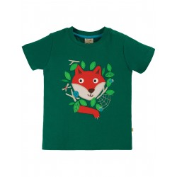 "T-shirt ""James Applique T-Shirt, Scots Pine / Fox"" - coton bio"