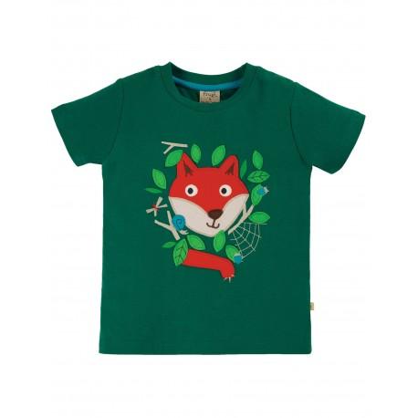 """T-shirt """"James Applique T-Shirt, Scots Pine / Fox"""" - coton bio"""