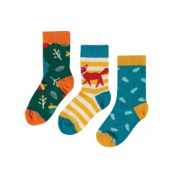 "Chaussettes ""Rock My Socks 3 Pack, Fox Multipack"" - coton bio"