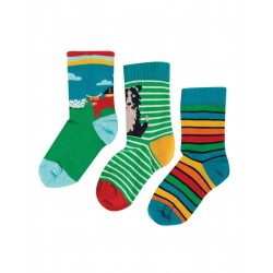 "Chaussettes ""Rock My Socks 3 Pack, Highland Cow Multipack"" - coton bio"