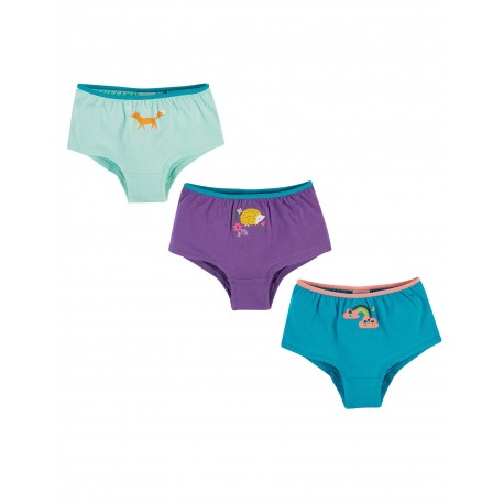 "Culottes ""Georgia Shorts 3 Pack, Animal Multipack"" - coton bio"