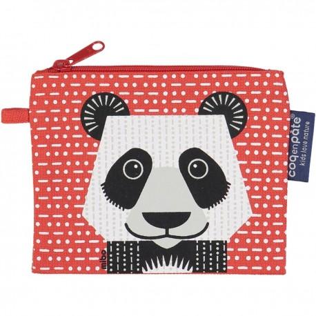 """Porte-monnaie """"Panda"""" - coton biologique"""