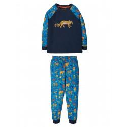 "Pyjama ""Jamie Jim Jams, Indigo / Leopard"" - coton bio"