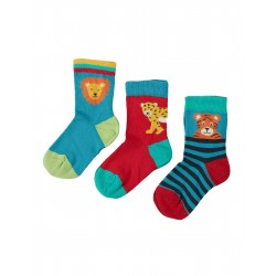 "Chaussettes ""Little Socks 3 Pack, Big Cat Multipack"" - coton bio"