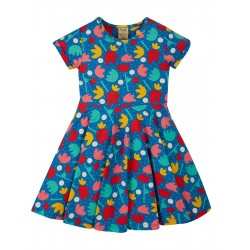 "Robe ""Spring Skater Dress, Lotus Bloom"" - coton bio"