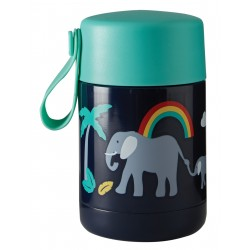 "Lunchbox isotherme en inox ""Yummy Insulated Food Flask, Indigo / Elephant"""