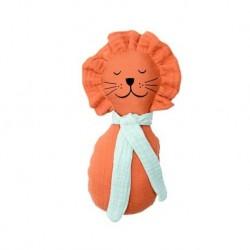 """Hochet """"Lion"""" - coton bio GOTS"""