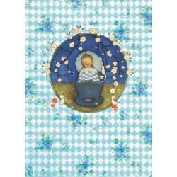 "Carte postale ""Naissance garçon 1"""