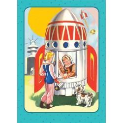 """Carte postale """"Fusée"""""""