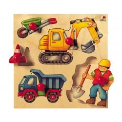 """Puzzle à boutons """"le chantier"""""""