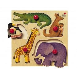 """Puzzle à boutons """"Le zoo"""""""