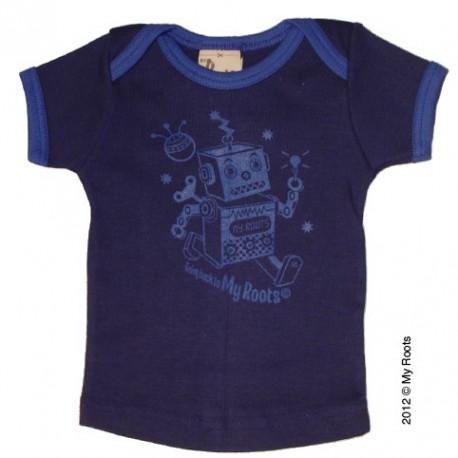 "T-shirt bébé ""Robot"" indigo - Roots"