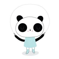 """Tatouage éphémère """"Panda girl"""" by Michéle Brummer-Evertt"""