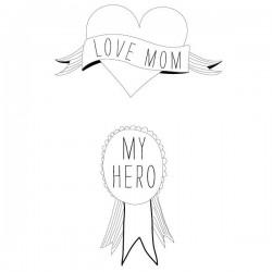 """Tijdelijke tattoo """"Heroes Mom"""" by Sarah Livescault"""