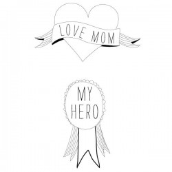 "Tatouage éphémère ""Heroes Mom"" by Sarah Livescault"