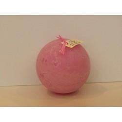 "Bougie artisanale parfumée ""Jardin Anglais (rose)"" grande sphère - Cape Fiore"