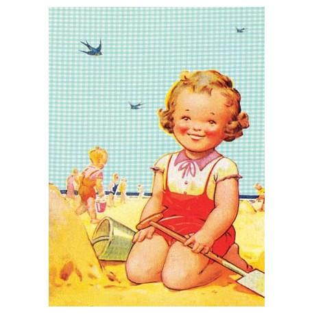"Carte postale ""Plage 1"""