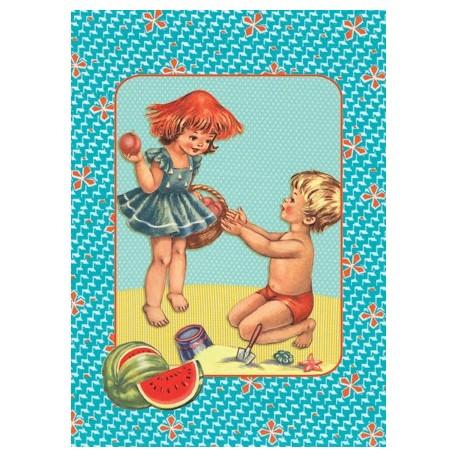"Carte postale ""Plage 2"""