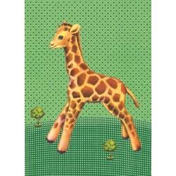"Carte postale ""Girafe"""