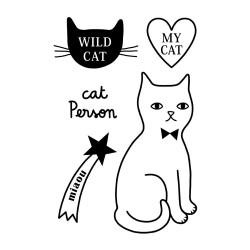 """Tatouage éphémère """"I Love Cats"""" by Audrey Jeanne"""