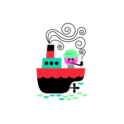 """Tatouage éphémère """"Boat"""" by Ingela P. Arrhenius"""