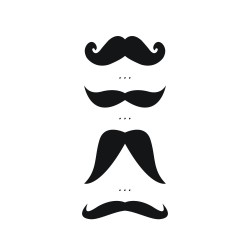 """Tatouage éphémère """"Moustaches"""" by Amélie Biggs"""