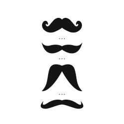 "Tijdelijke tattoo ""Moustaches"" by Amélie Biggs"