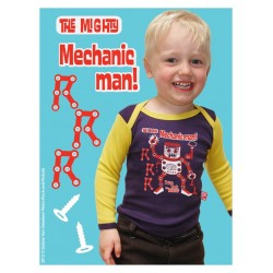 "T-shirt bébé ""Mechanic"" - made in Belgium"