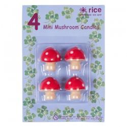 "Mini-bougies ""Champignons"""