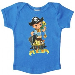 "T-shirt ""Pirate"" malibu blue - made in Belgium"