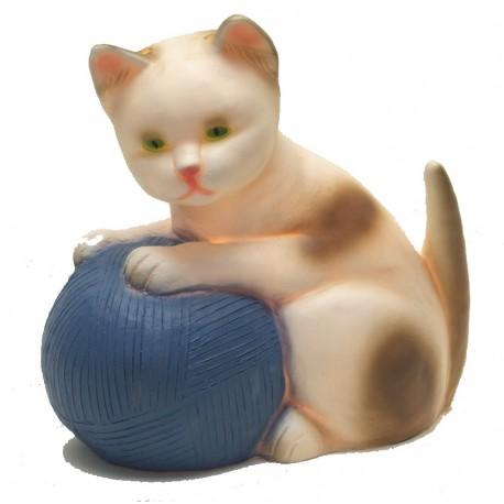 """Lampe veilleuse """"Chat avec pelotte bleue"""" - Egmont Toys"""