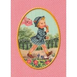 """Carte postale """"Enfant et glace"""""""