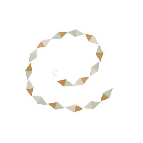 "Guirlande kite papier ""Jade - Pollen - Naturel"""