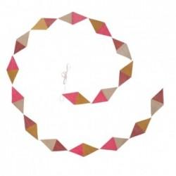 "Guirlande kite papier ""Vieux rose - Pollen - Ultra rose"""