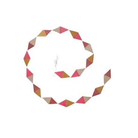 """Kite slinger in papier """"Oud roze - Stuifmeel - Ultra roze"""""""