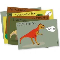 """8 cartes d'invitations """"Dinosaure"""""""