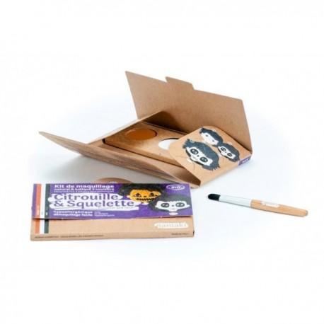 """Kit de maquillage 3 couleurs """"Citrouille & Squelette"""""""