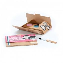 """Kit de maquillage 3 couleurs """"Princesse & Papillon"""""""
