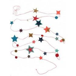 "Guirlande ""Stars Pink"""