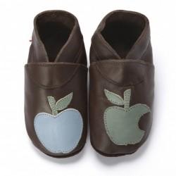 """Chaussons en cuir souple """"Pomme Cannelle"""""""