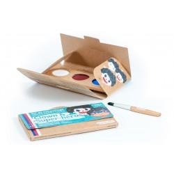 """Kit de maquillage 3 couleurs """"Clown et Super-héros"""""""