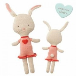 "Doudou crocheté ""Cuddly Friends"" Rita Rabbit - coton bio"