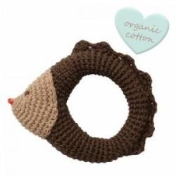 "Hochet crocheté ""Crochet rattles"" Hedgehog - coton bio"