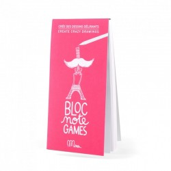 """Notitieboekje Games """"Crée des dessins délirants"""""""