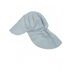 "Chapeau / bob ""Legionnaires Hat"" Cornish Blue Ticking Stripe - coton bio"