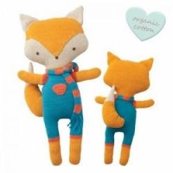 """Doudou crocheté """"Cuddly Friends"""" Felix Fox - coton bio"""