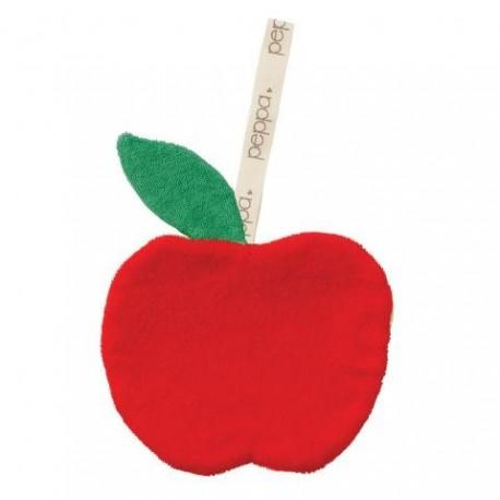 "Doudou attache-tétine ""Apple red / yellow"""