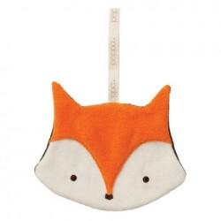 "Doudou attache-tétine ""Fox orange / anthracite"""