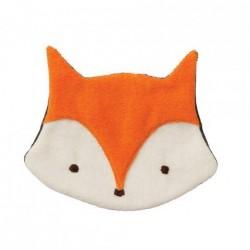 "Doudou coussin plat ""Fox orange / anthracite"""