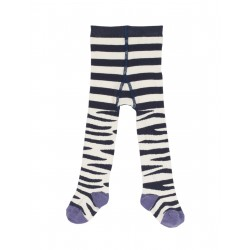 "Collants ""Little Norah Tights Zebra Stripe"" - coton bio"